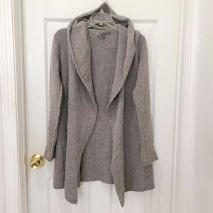 Vince Cashmere Wool Open Hooded Cardigan sz S